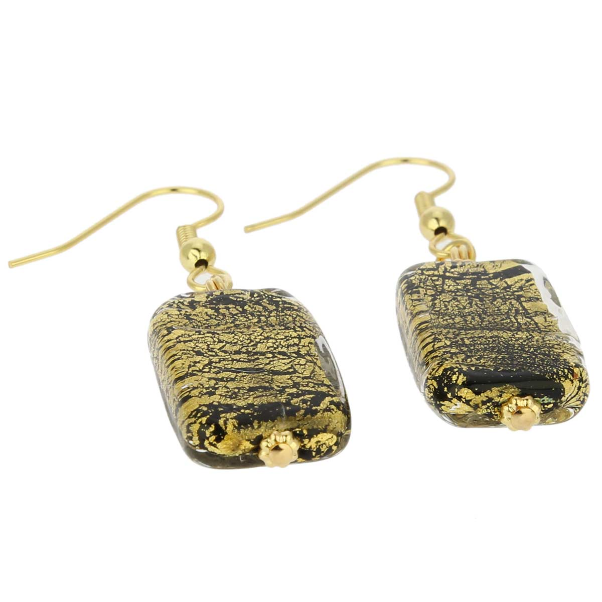 Vivaldi Murano earrings - Black and Gold