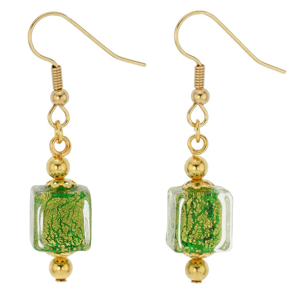 Antico Tesoro cubes earrings -lime green