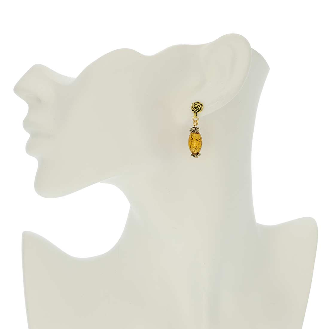 Antico Tesoro olives earrings -amber gold