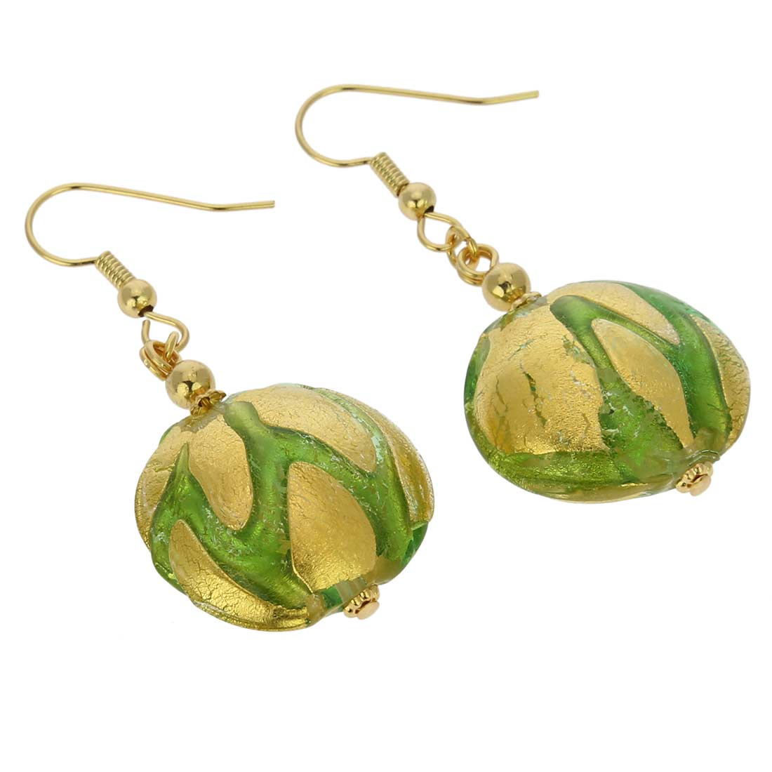 Royal Green Circles earrings