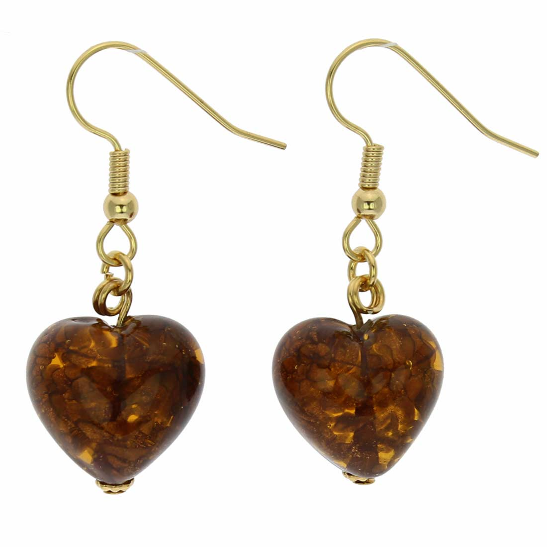 Starlight Hearts earrings - topaz