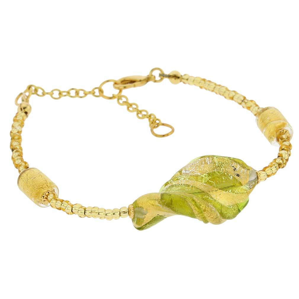 Royal Green Spiral bracelet