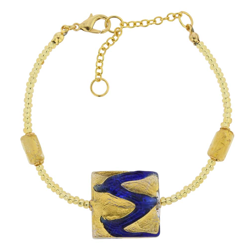 Royal Blue Square bracelet