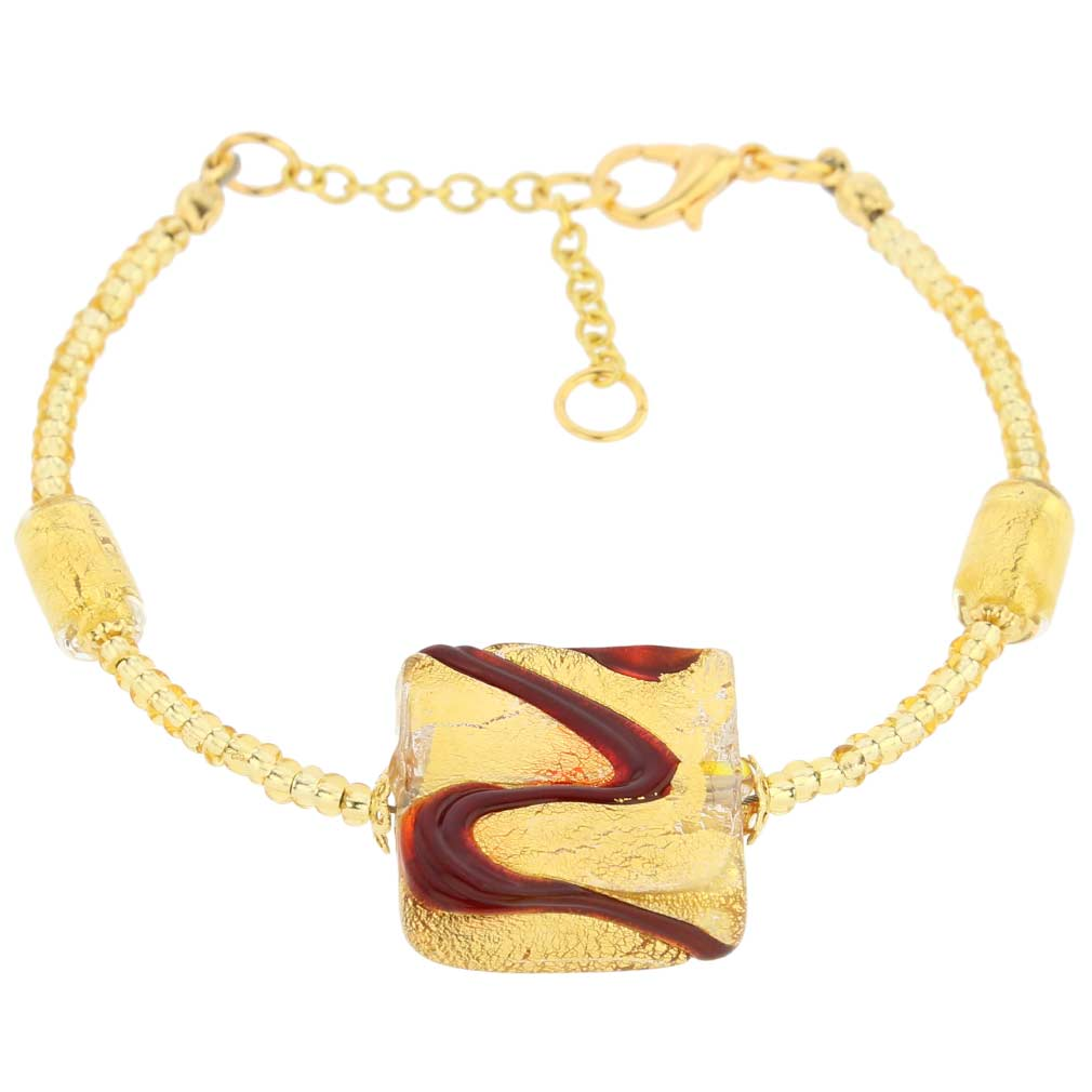 Royal Red Square bracelet
