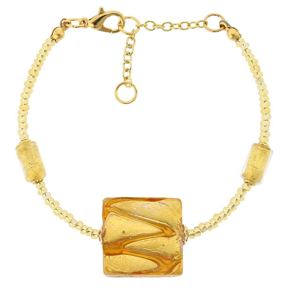 Royal Cognac Square bracelet