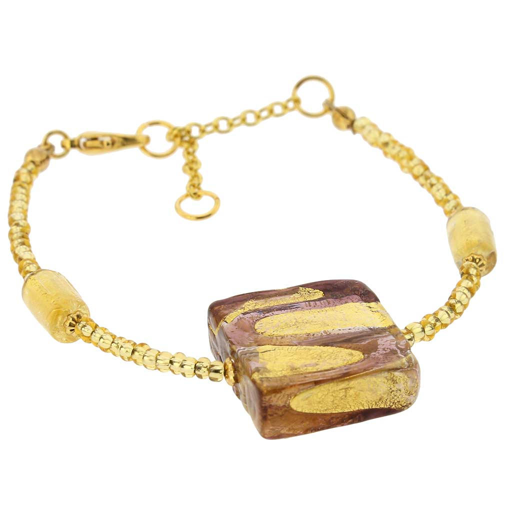 Royal Amethyst Square bracelet