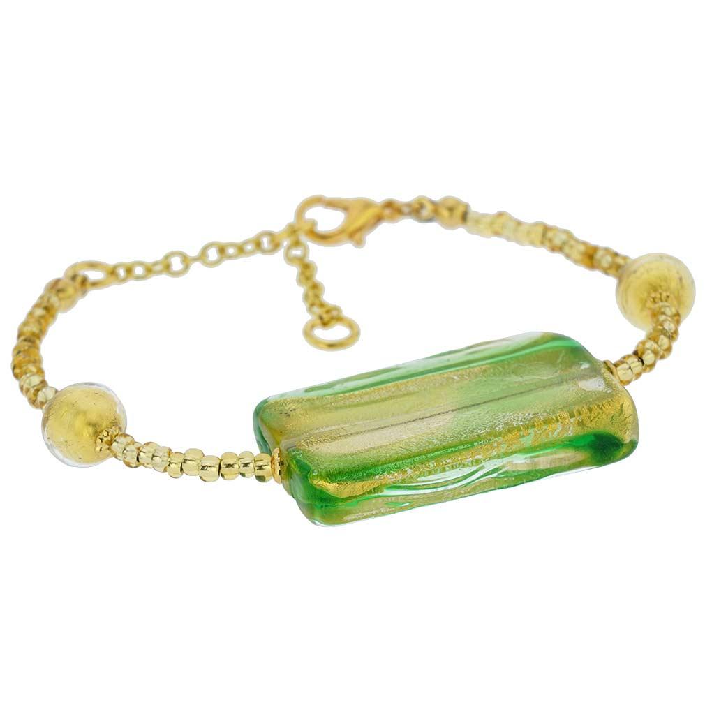Royal Green Block bracelet