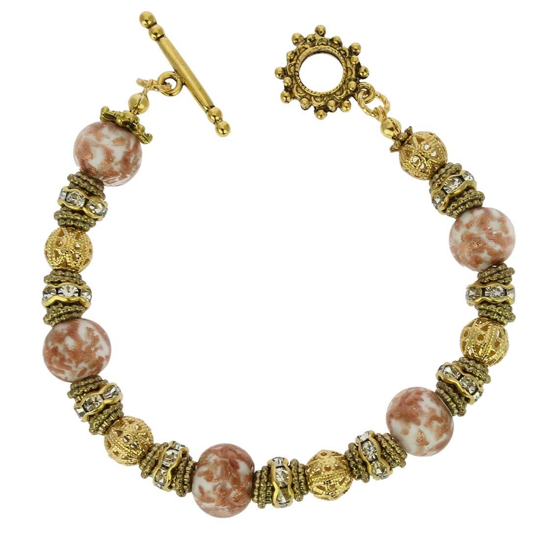 Murano Symphony Bracelet - White