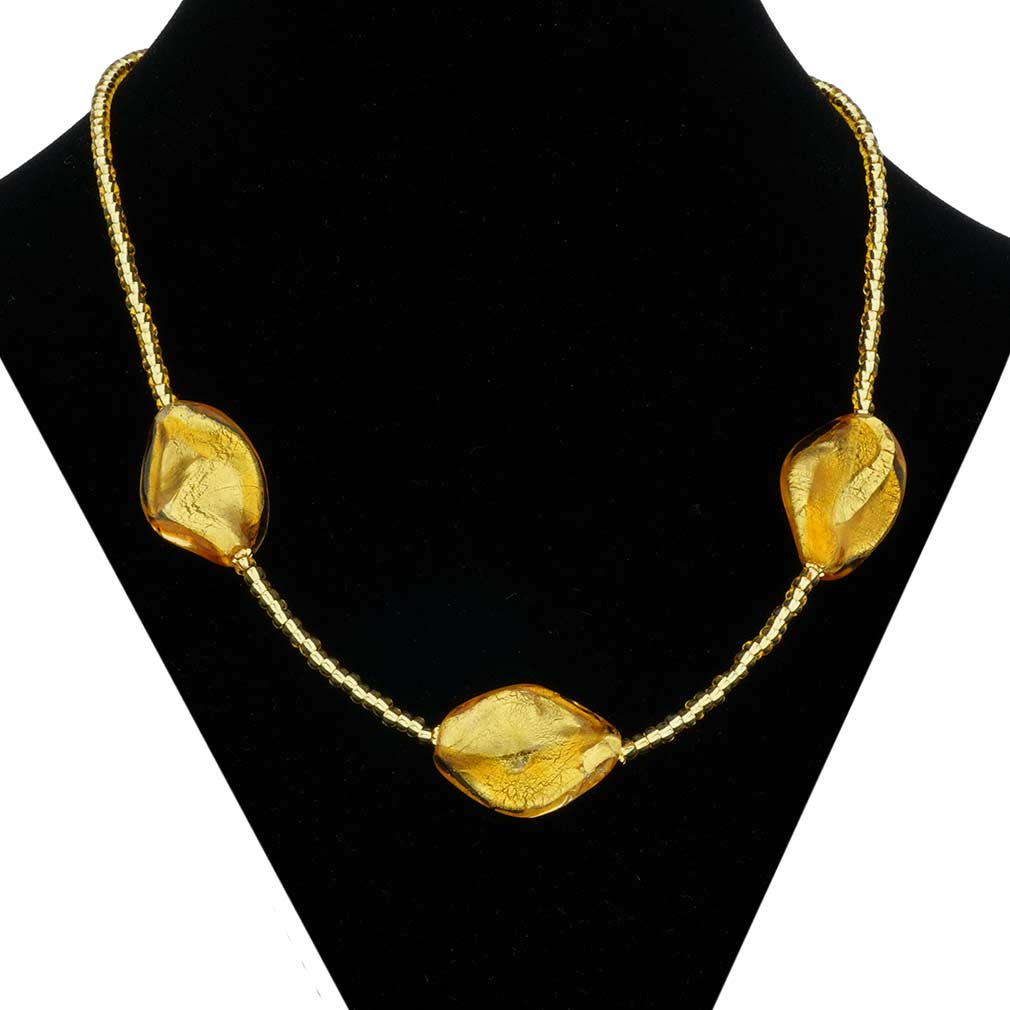 Royal Gold Spirals necklace