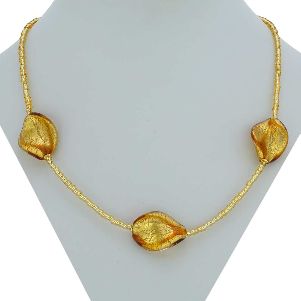 Royal Cognac Spirals necklace