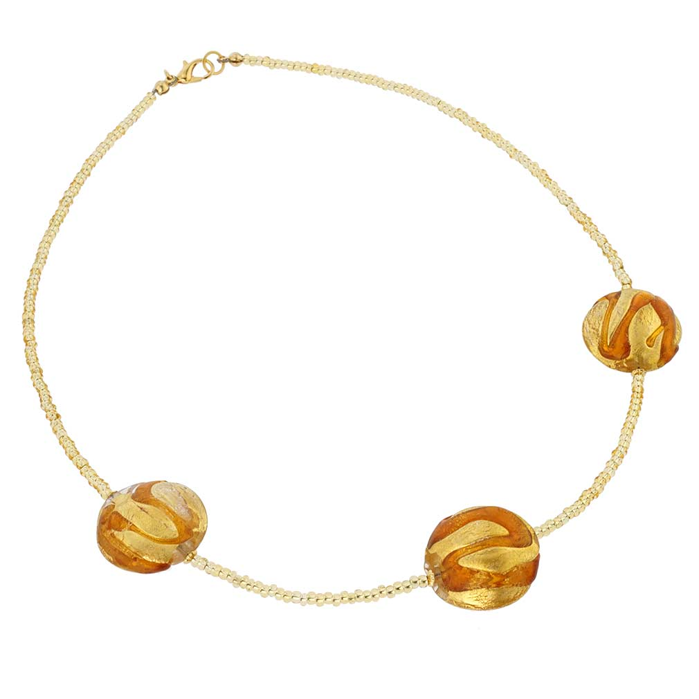 Royal Cognac Circles necklace