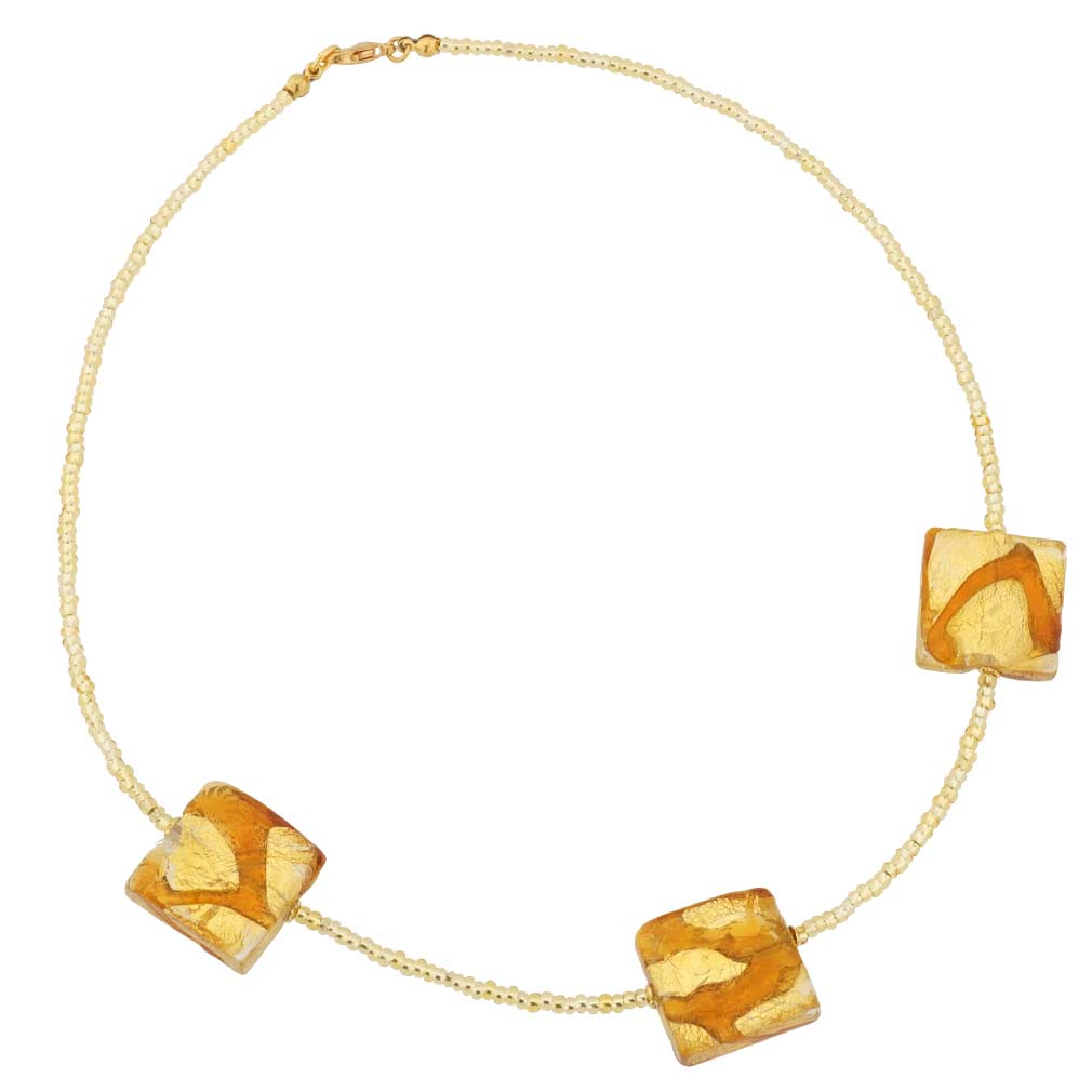 Royal Cognac Squares necklace