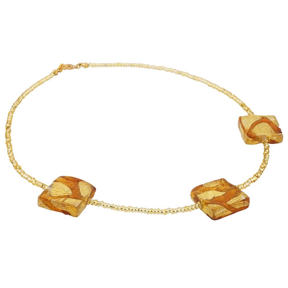 Royal Cognac Squares necklace