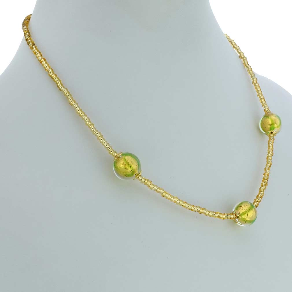 Royal Green Balls necklace