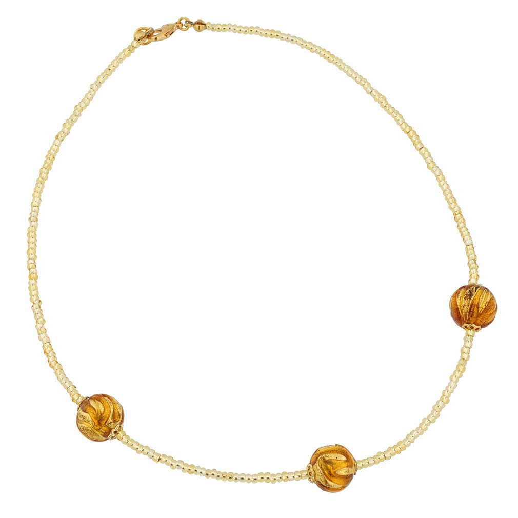 Royal Cognac Balls necklace