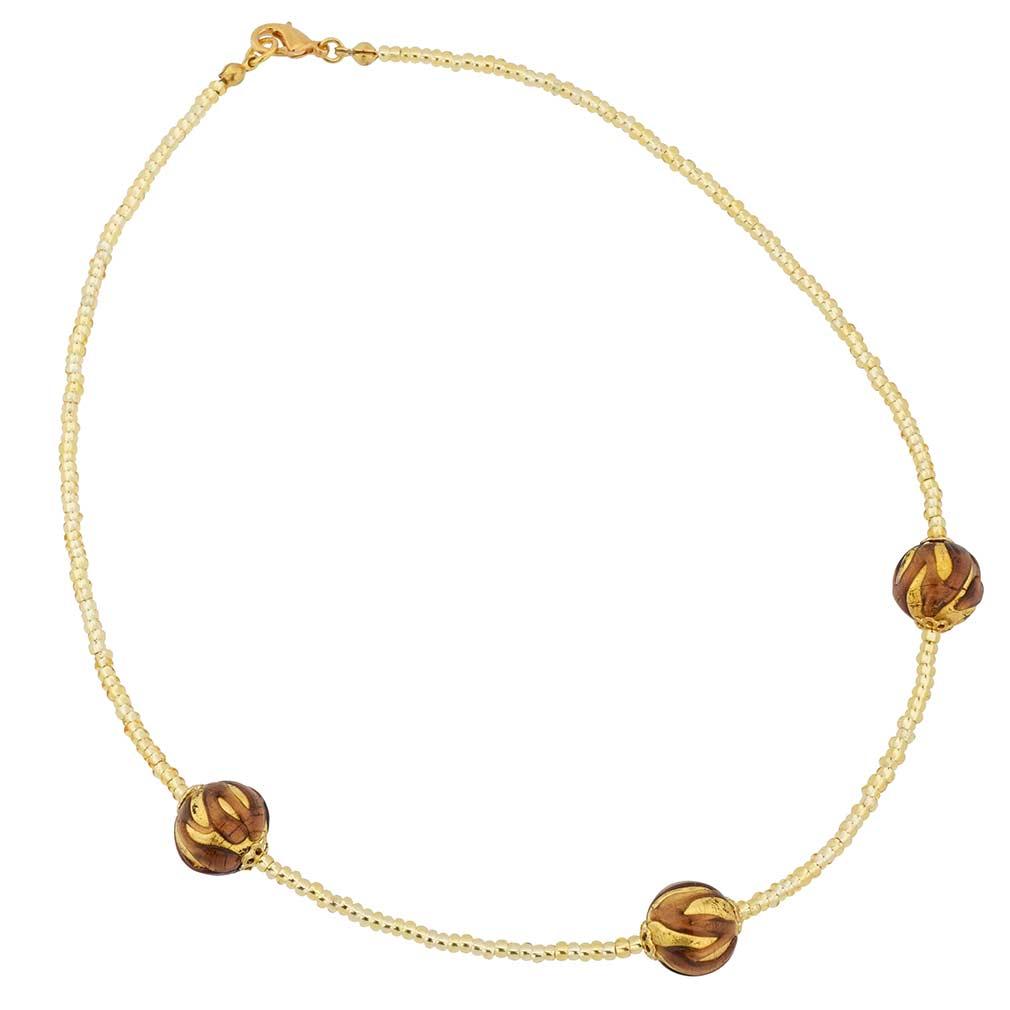 Royal Amethyst Balls necklace