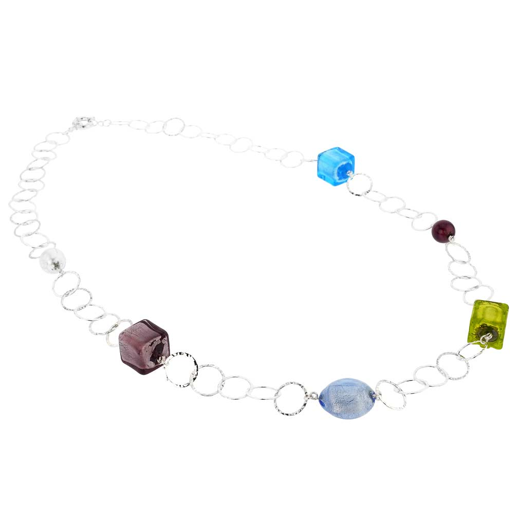 Silver Fantasy Murano Necklace