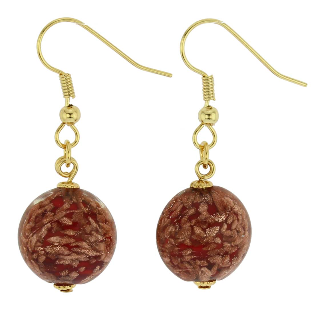 Starlight disk earrings - fire red