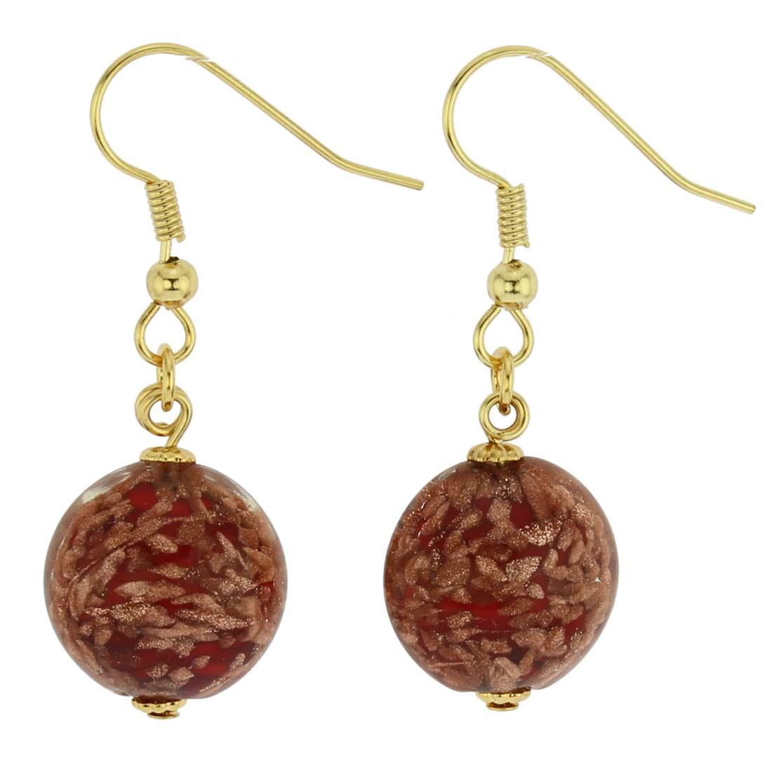 Starlight disk earrings - fire red