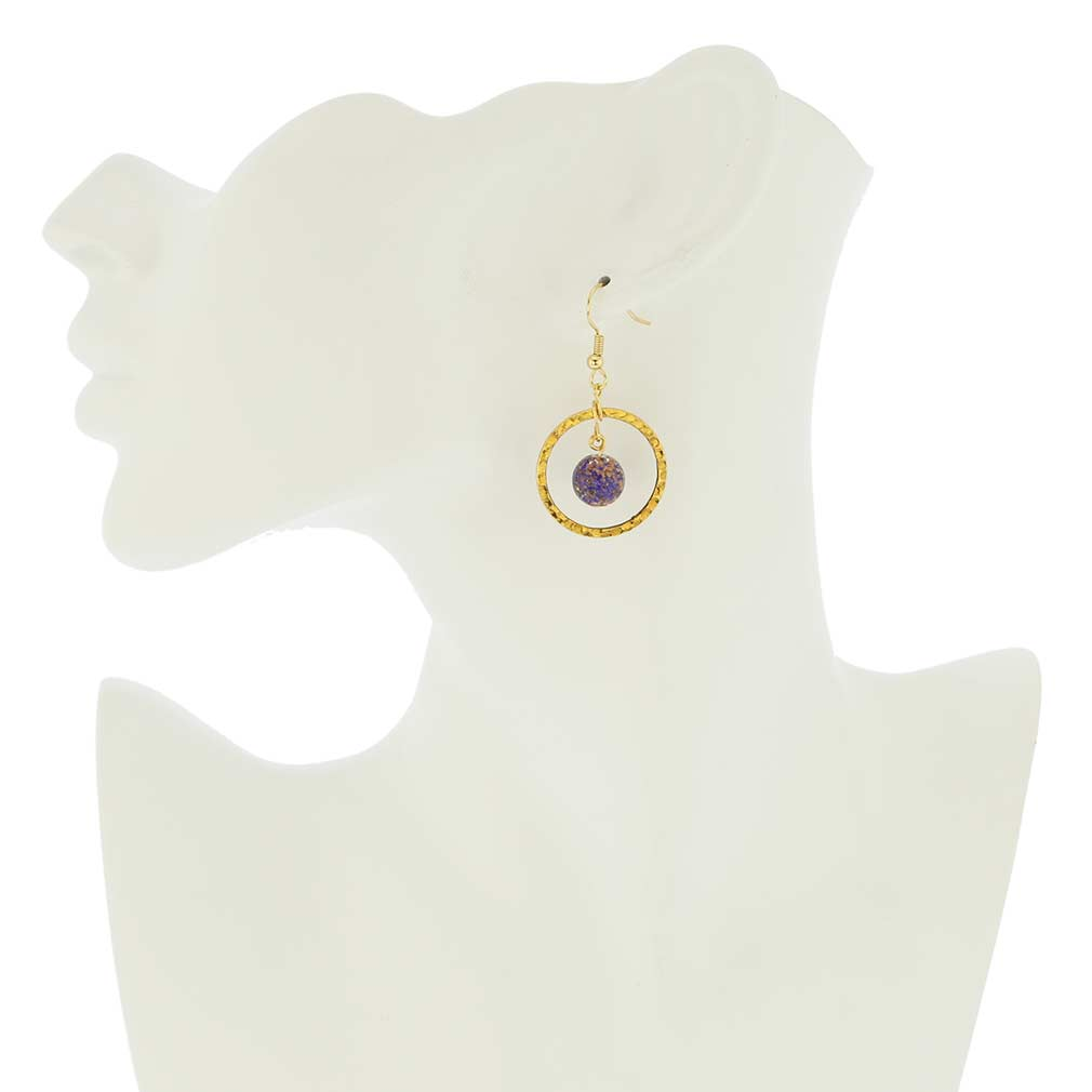 Sommerso Venetian Circle earrings- blue