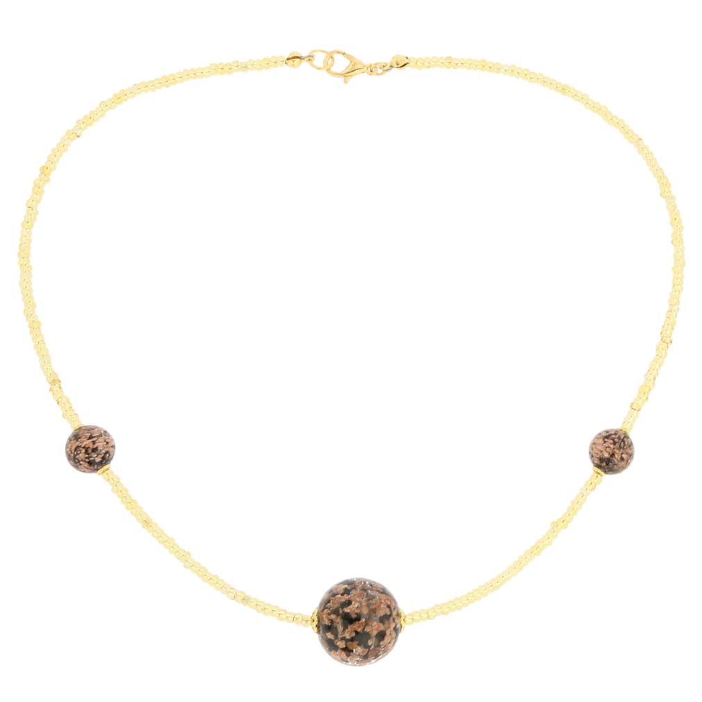 Starlight Balls necklace - black