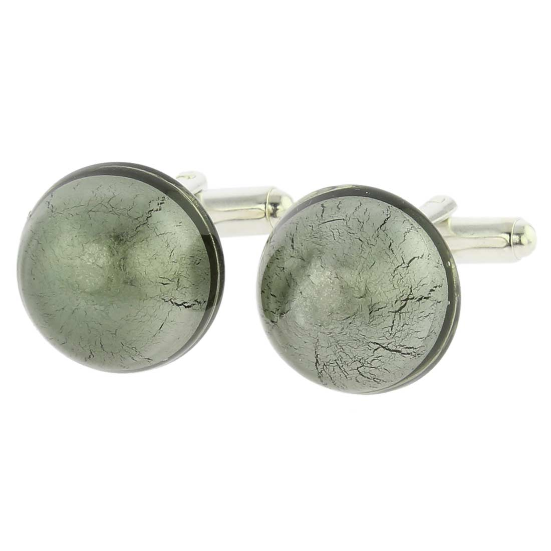 Venetian Dream Cufflinks - Silver Grey