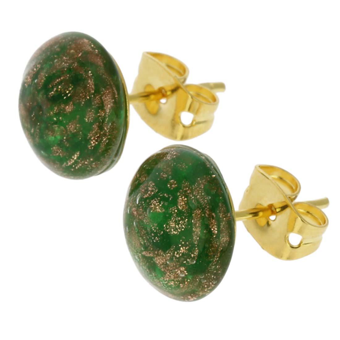 Starlight Small Stud Earrings - Emerald