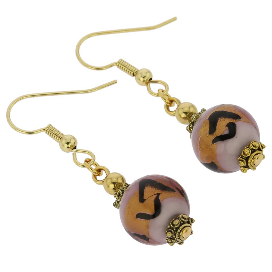 Antico Tesoro Balls Earrings - Lavender Gold