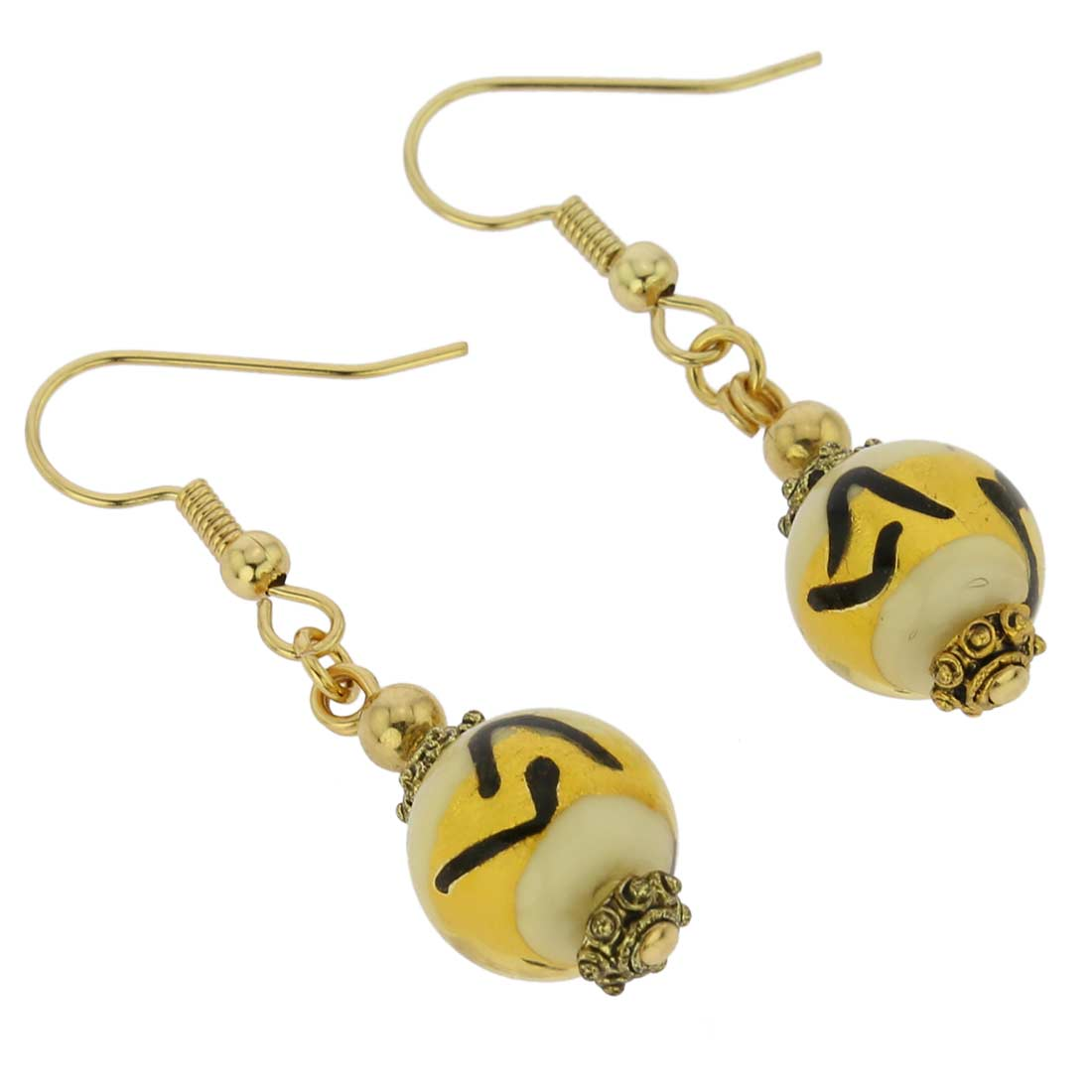Antico Tesoro Balls Earrings - Ivory Gold