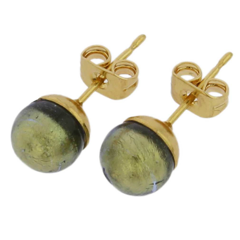 Murano Tiny Stud Earrings - Grey Sapphire