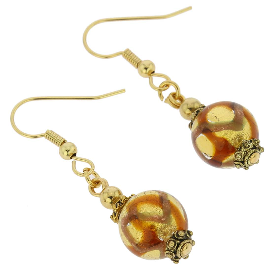Antico Tesoro Balls Earrings - Topaz Waves Gold