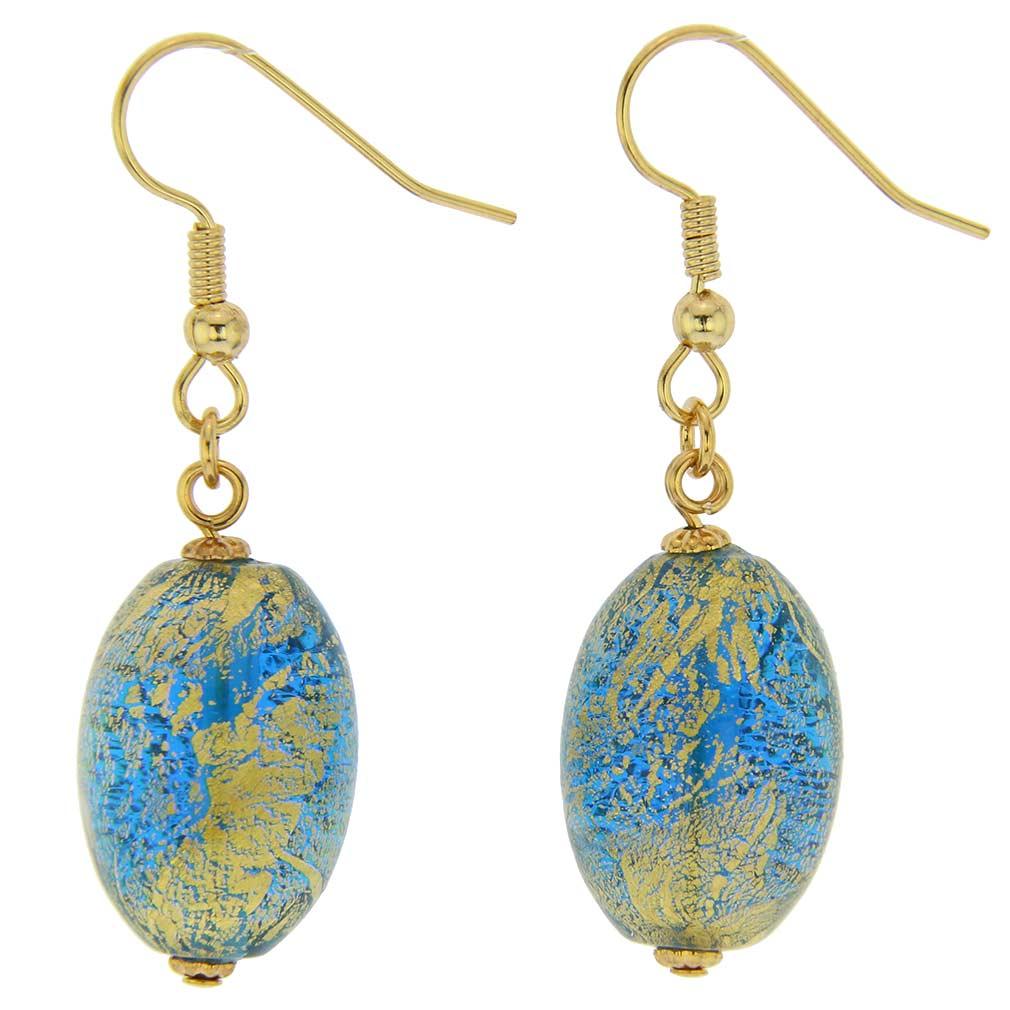 Ca D'Oro Olives Earrings - Aqua