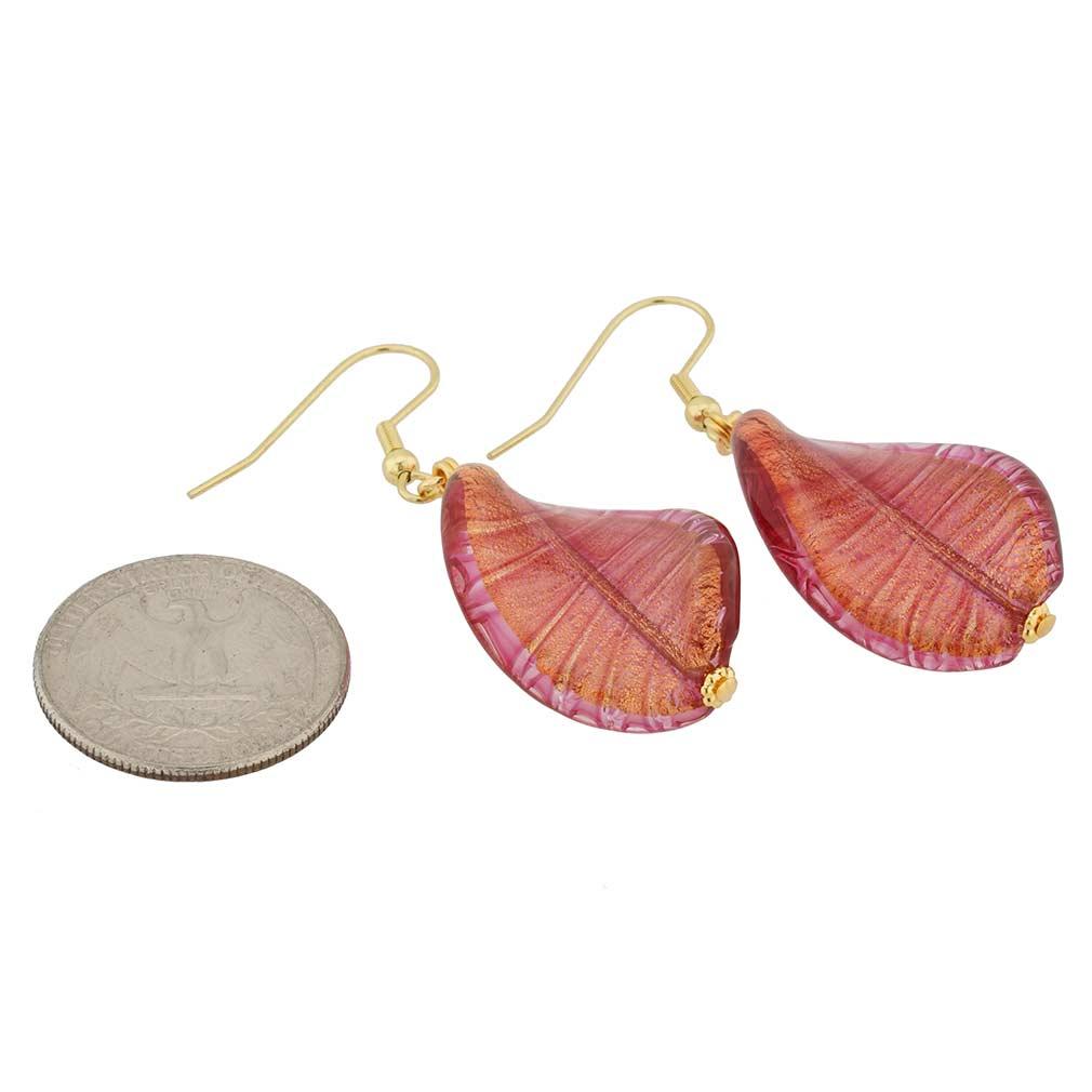 Isola Bella Murano Earrings - Amethyst
