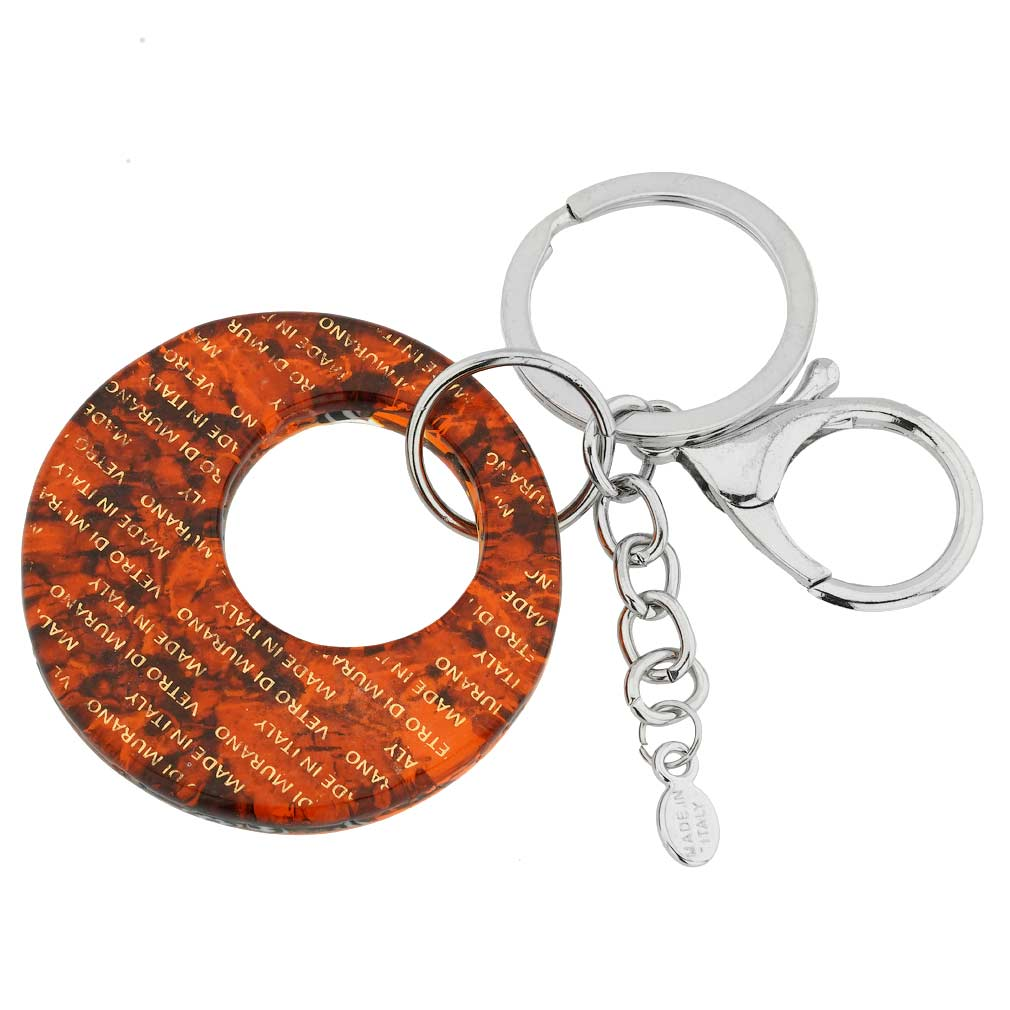Murano Colors Round Keychain