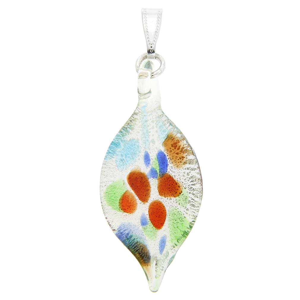 Kaleidoscope Leaf-shaped pendant