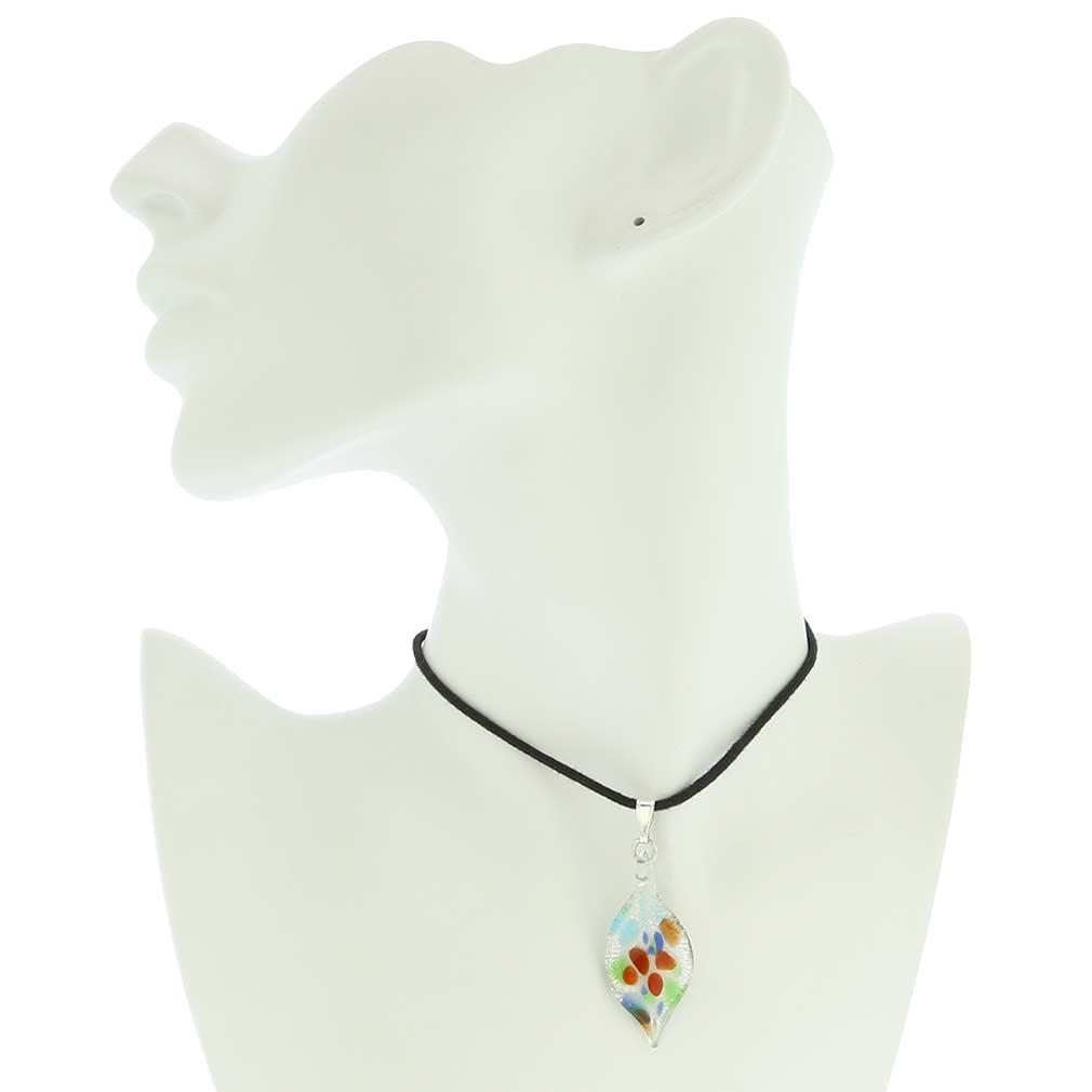 Kaleidoscope Leaf-shaped pendant