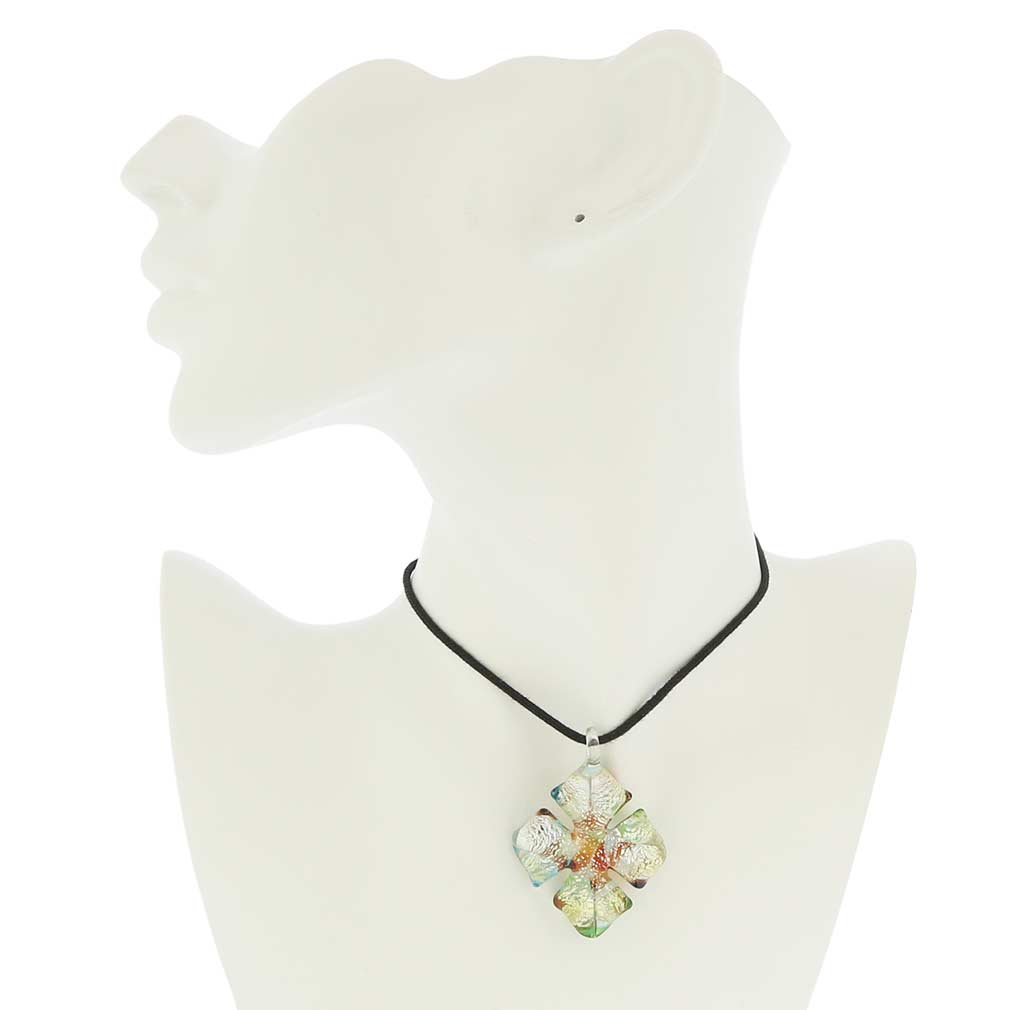 Kaleidoscope cross-shaped pendant