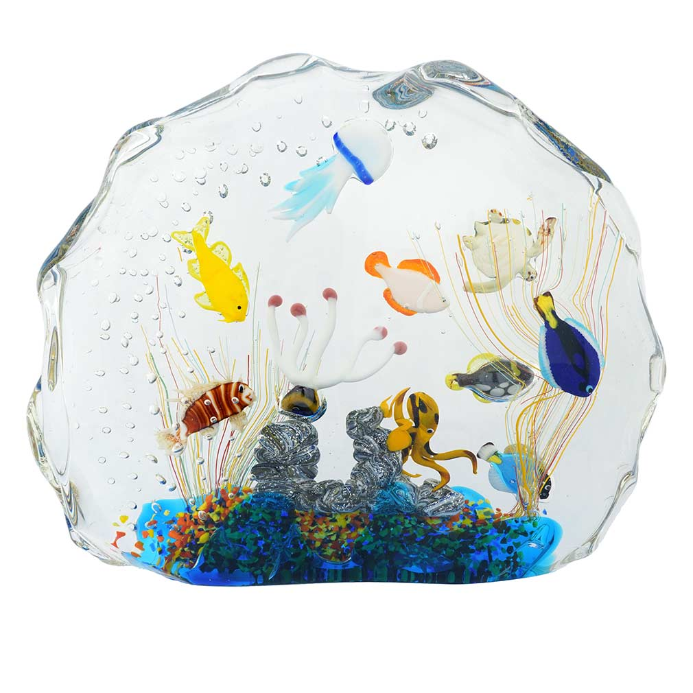 Murano Glass Aquarium Bag with Tropical Fish