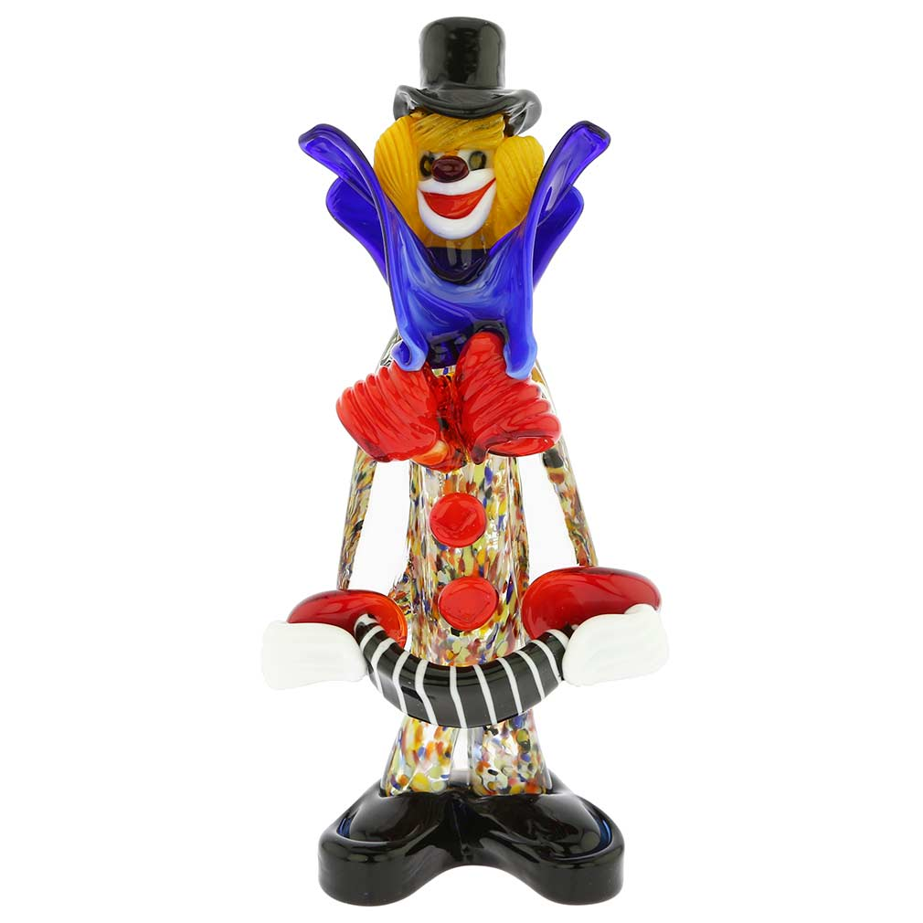 Murano Glass Clown with Accordion