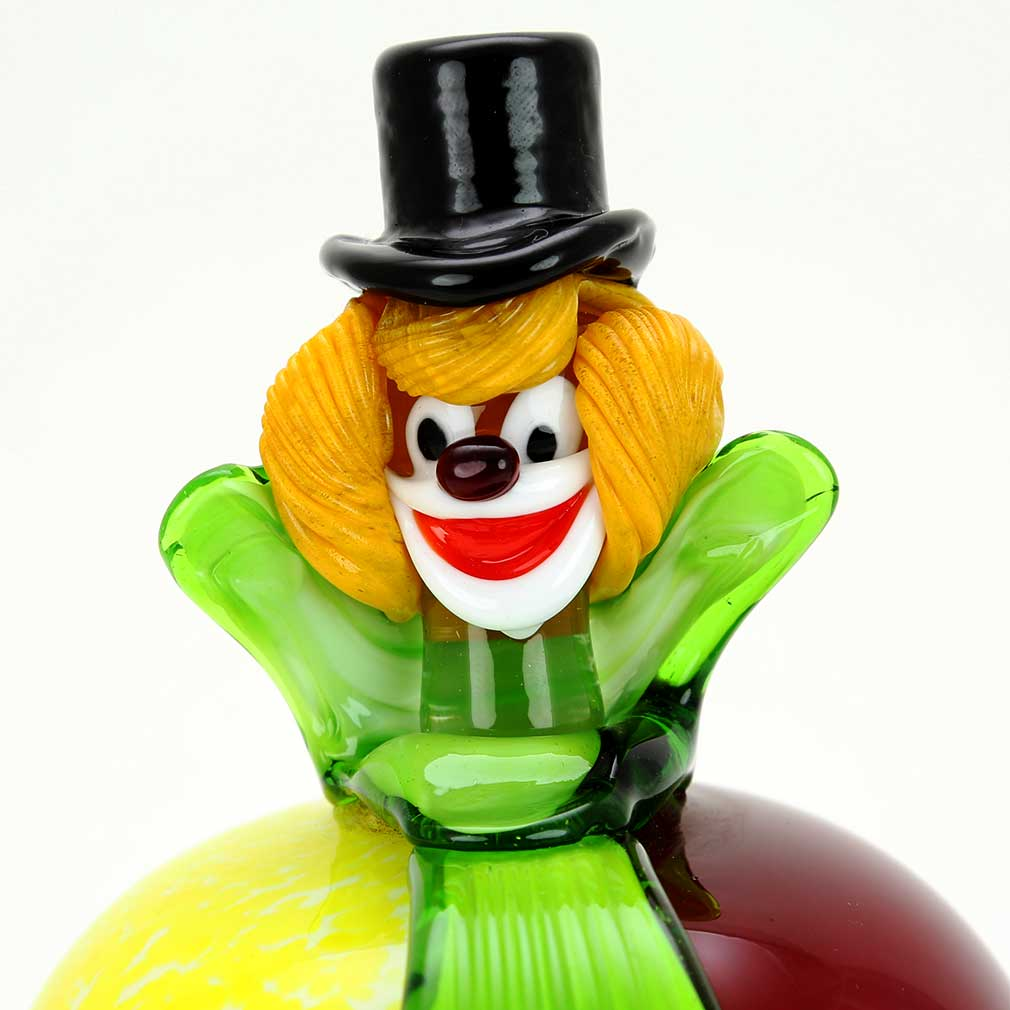 Murano Glass Clown - Apple