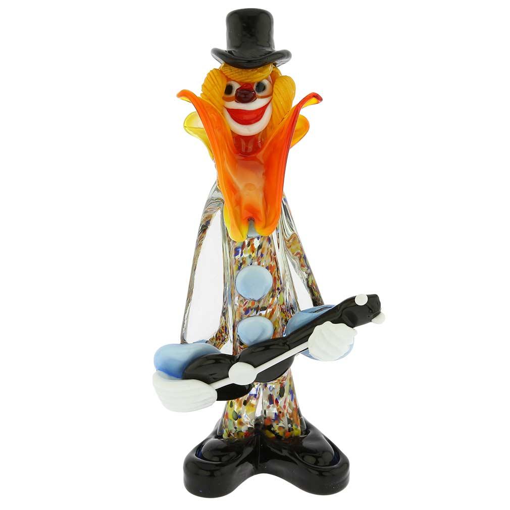 Murano Glass Clown with Guitar
