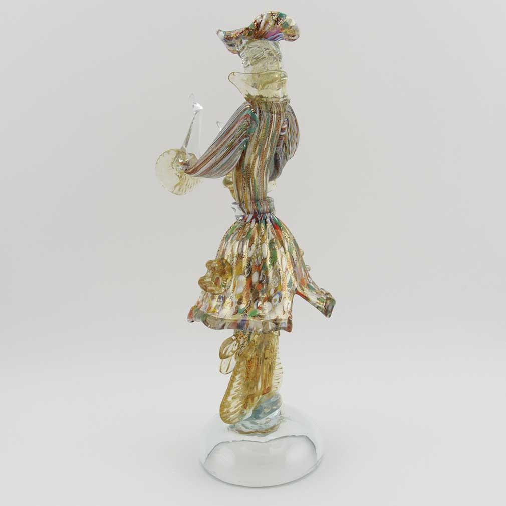 Venetian Goldonian Gentleman - Millefiori and Gold