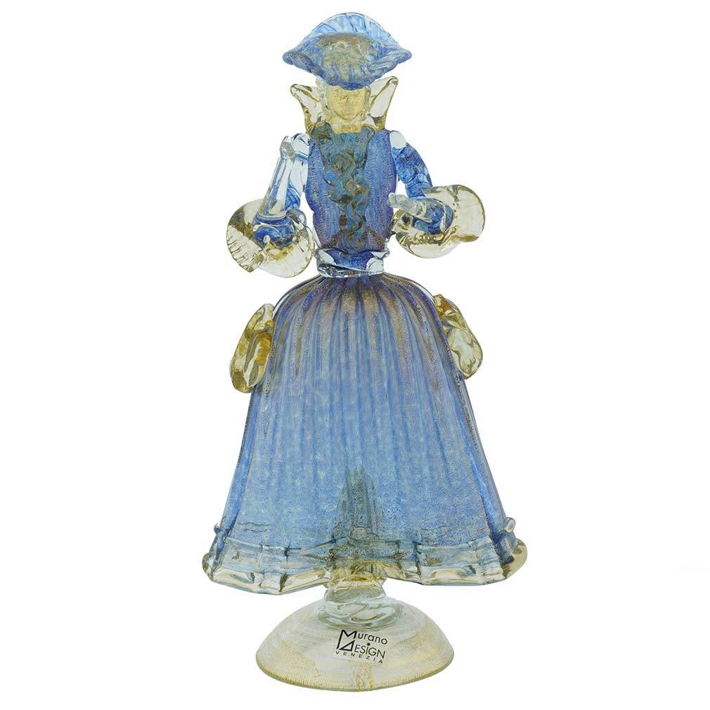 Venetian Goldonian Lady - Blue and Gold