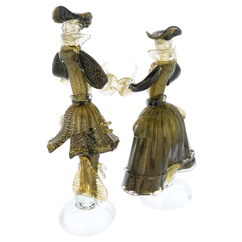 Venetian Goldonian Couple - Black and Gold