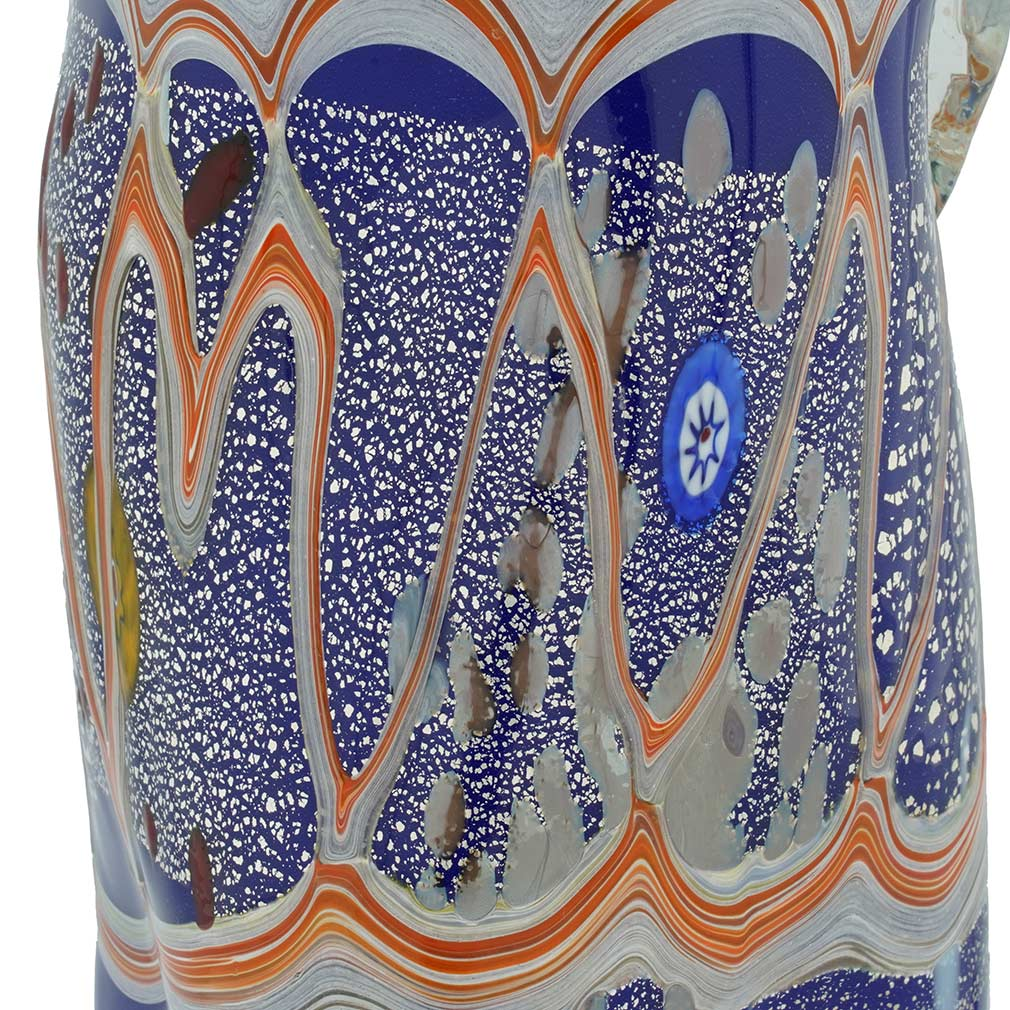Modern Art Murano Glass Carafe - Blue
