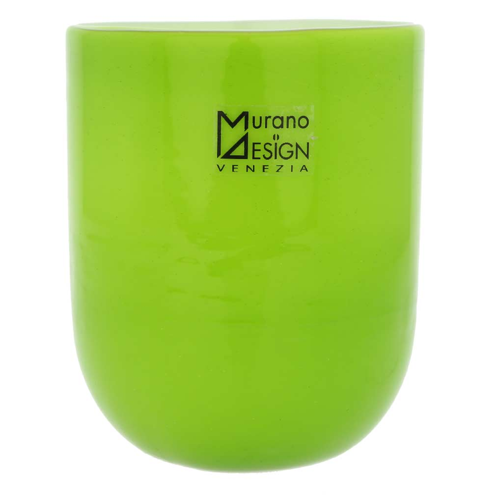 Murano Glass Luminoso Tumbler - Green