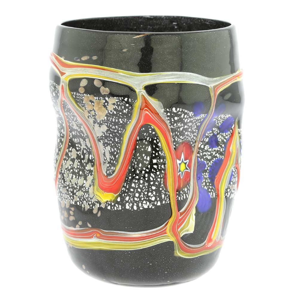Modern Art Murano Glass Tumbler - Black