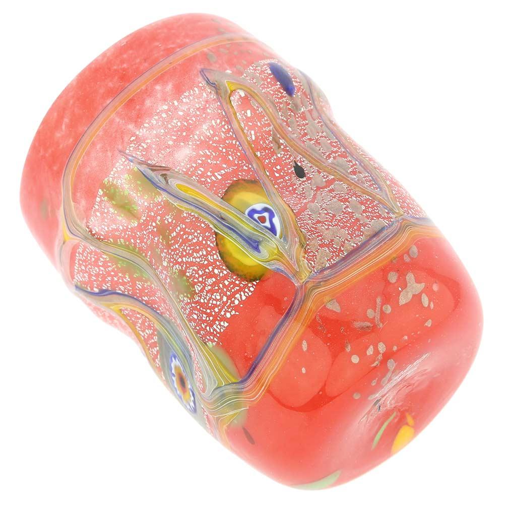 Modern Art Murano Glass Tumbler - Red
