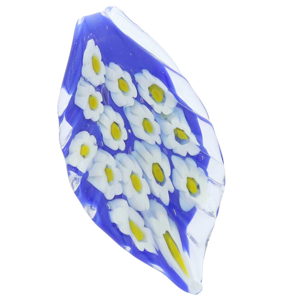 Blue Daisy Leaf pendant