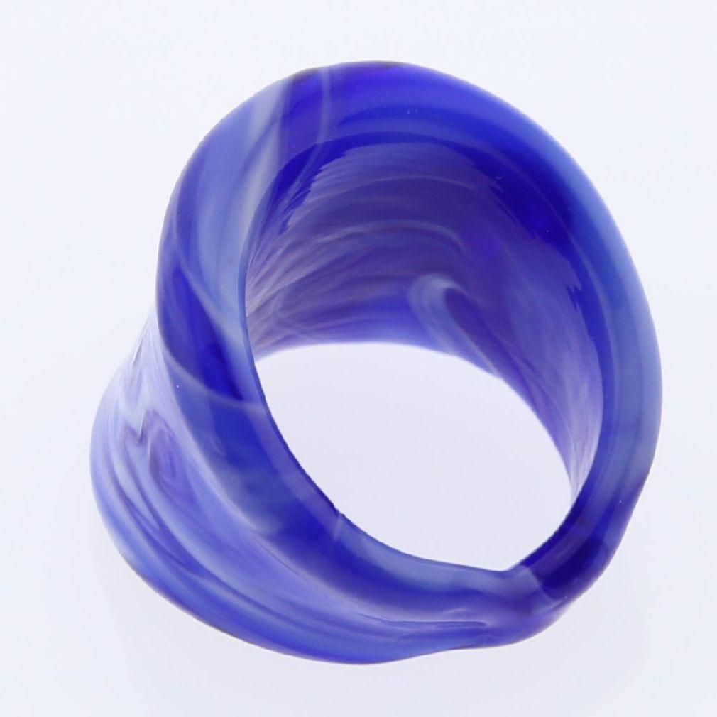 Venetian Marble Ring - Blue